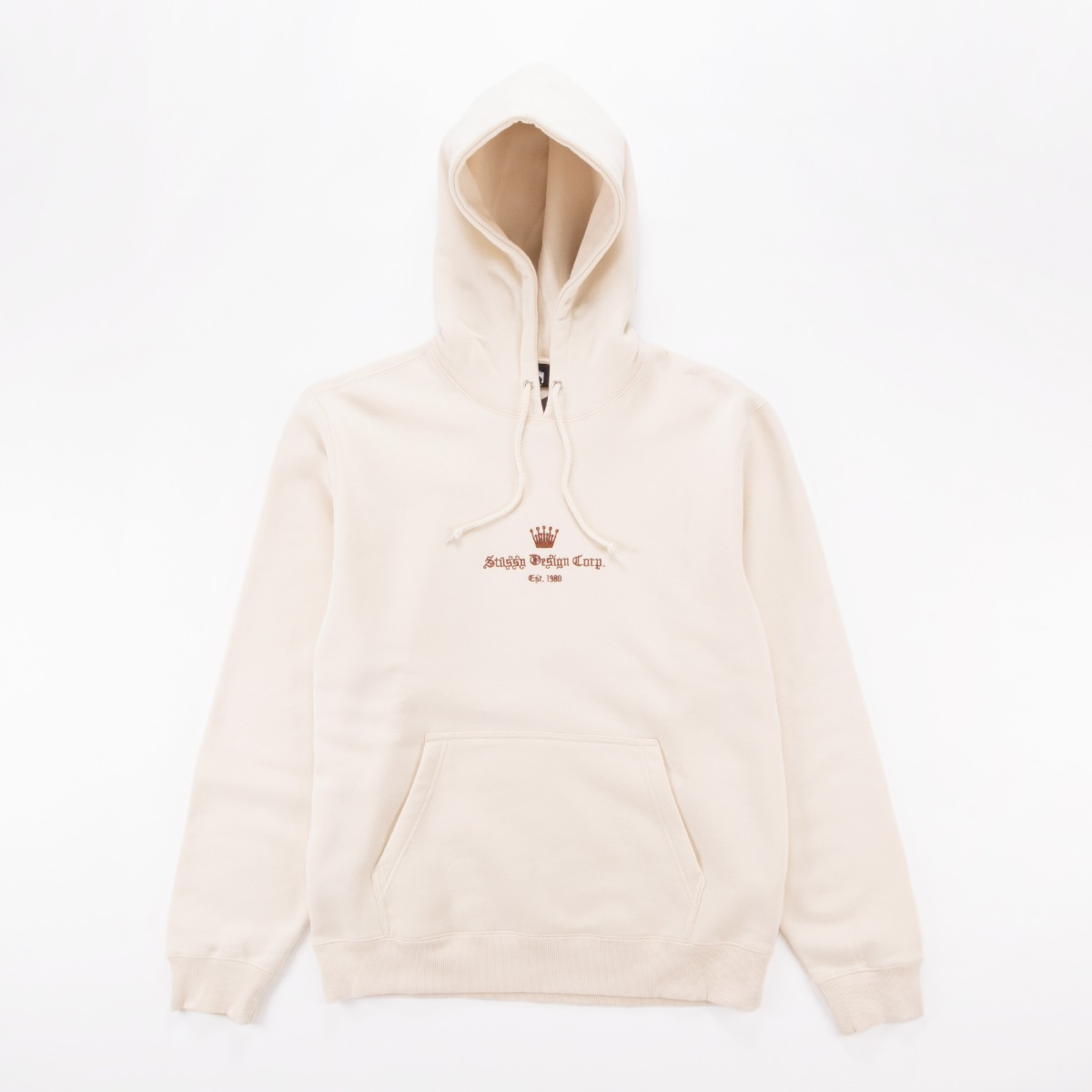 Old English Script Hoodie In White