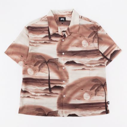 Stussy Island Shirt Brown