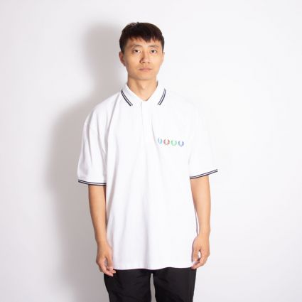 Fred Perry x Beams Twin Tipped Polo Shirt White