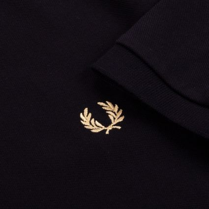 Fred Perry Made in England Crew Neck Piqué T-Shirt Black/Champagne