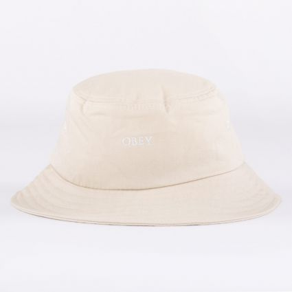 Obey Ideals Organic Bucket Hat Natural1