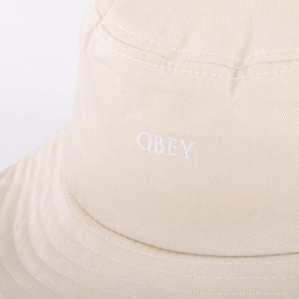 Obey Ideals Organic Bucket Hat Natural