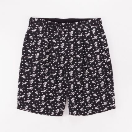 Engineered Garments Sunset Shorts Black/White Floral Jacquard