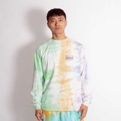 Aries Ripple Tie Dye LS T-Shirt Multi