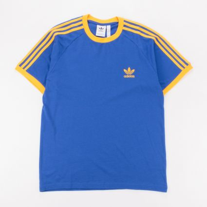 adidas Originals 3-Stripes T-Shirt Royal Blue/Active Gold1