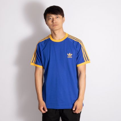 adidas Originals 3-Stripes T-Shirt Royal Blue/Active Gold