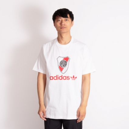 Adidas River 85 T-Shirt White/Active Red