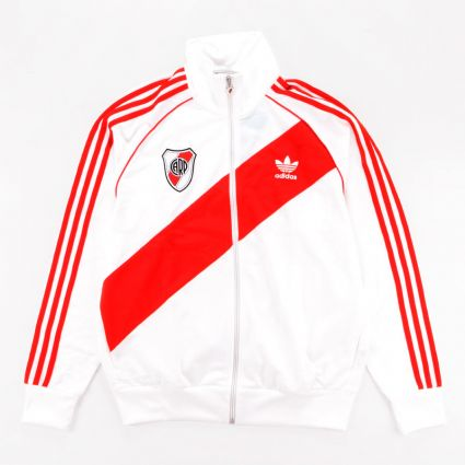 Adidas River 85 Track Top White/Active Red1