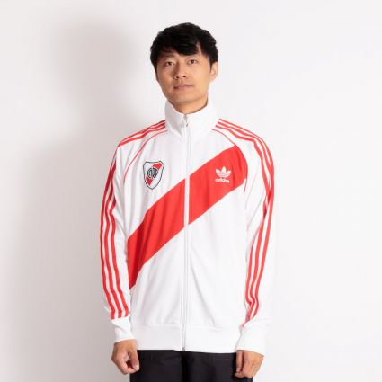 Adidas River 85 Track Top White/Active Red