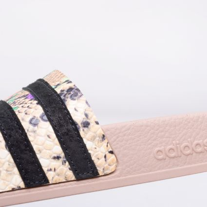 adidas Women's Originals Adilette Pale Nude/Core Black/Pale Nude