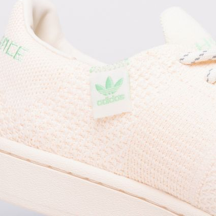 adidas Originals x Pharrell Williams Superstar Primeknit Ecru Tint/Core White/Glory Mint