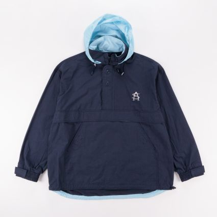 Adsum Hooded Monogram Jacket Dark Navy/Sky Blue