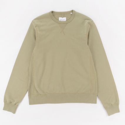 Albam Classic Sweatshirt Oil Green1