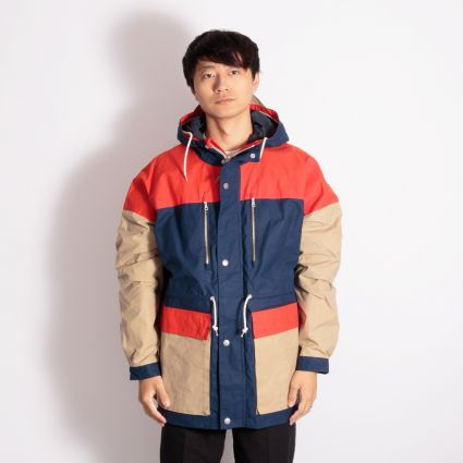 Albam Orienteering Parka Dark Navy/Orange/Visual Orange
