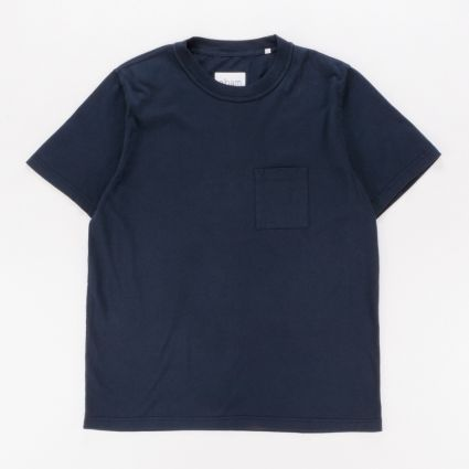 Albam Short Sleeve Workwear T-Shirt Navy1