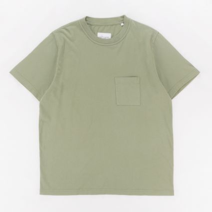 Albam Short Sleeve Workwear T-Shirt Oil Green1