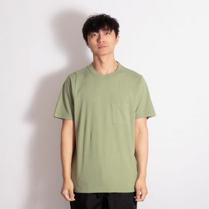 Albam Short Sleeve Workwear T-Shirt Oil Green