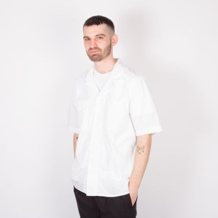 Albam SS Revere Collar Shirt White