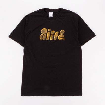 Alife 2 Tone Bubble Logo T-Shirt Black1