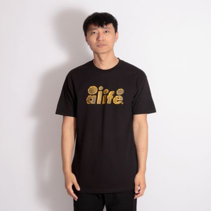 Alife 2 Tone Bubble Logo T-Shirt Black