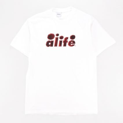 Alife 2 Tone Bubble Logo T-Shirt White1