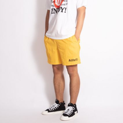 Alife Basics Nylon Shorts Yellow