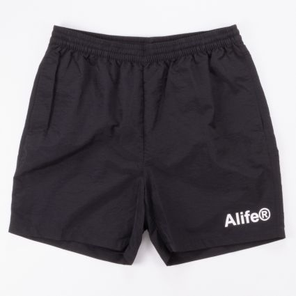 Alife Basics Nylon Shorts Black1