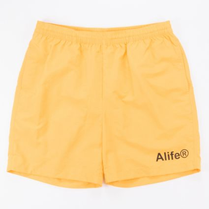 Alife Basics Nylon Shorts Yellow1