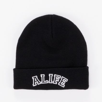 Alife Collegiate Beanie Black1