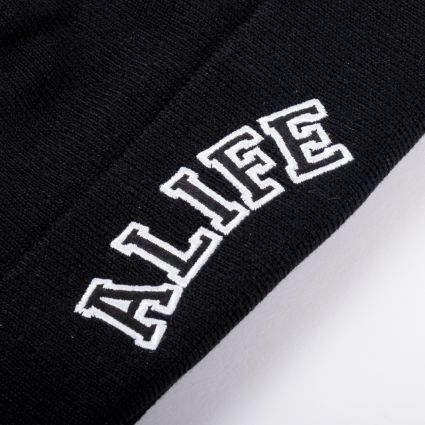 Alife Collegiate Beanie Black