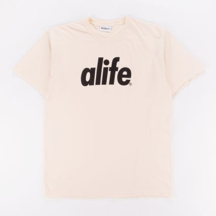 Alife Core Logo Tee Natural Oat