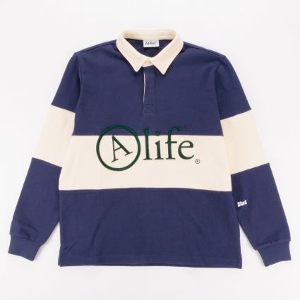 Alife Rugby Shirt Navy/Cream1