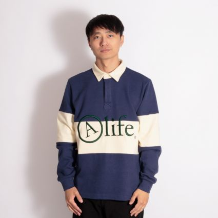 Alife Rugby Shirt Navy/Cream