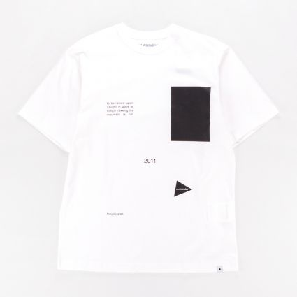 and wander Composition T-Shirt White1
