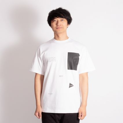 and wander Composition T-Shirt White