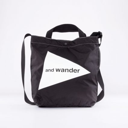 and wander CORDURA Logo Tote Bag Medium Black1