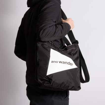 and wander CORDURA Logo Tote Bag Medium Black