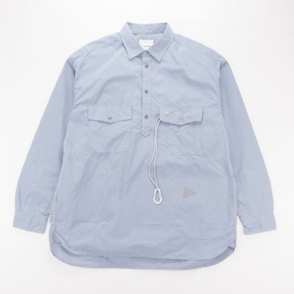 and wander Cordura Typewriter Long Sleeve Over Shirt Light Blue1