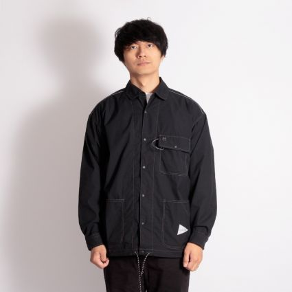 and wander Dry Rip Shirt Black