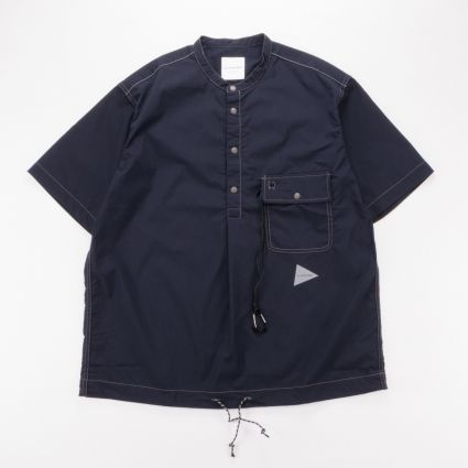 and wander Dry Rip Short Sleeve Shirt Navy1