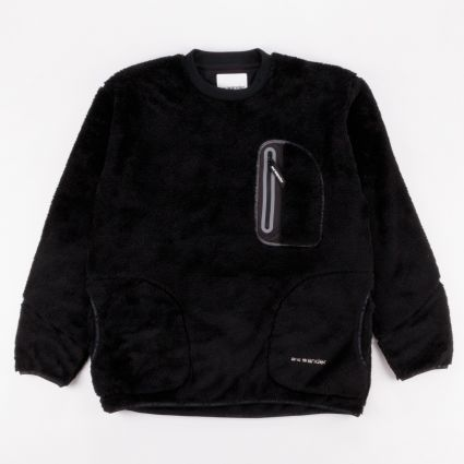 and wander High Loft Fleece Pullover Black1