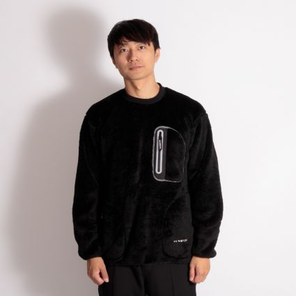 and wander High Loft Fleece Pullover Black