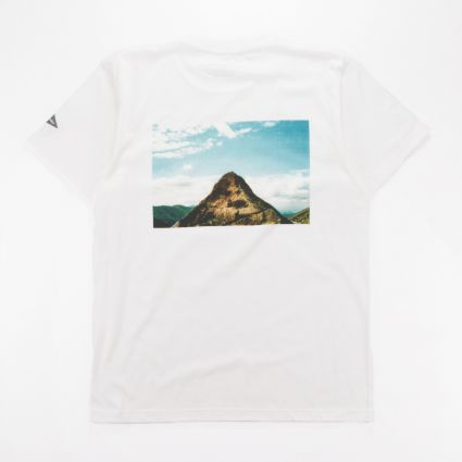 and wander Mountain Photo T-Shirt By Tetsuo Kashiwada White