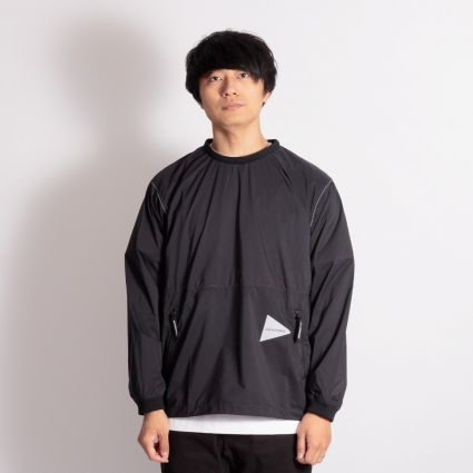 and wander Pertex Wind Long Sleeve T-Shirt Black