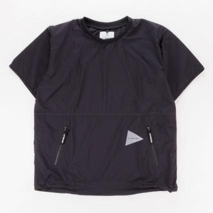 and wander Pertex Wind Short Sleeve T-Shirt Black1