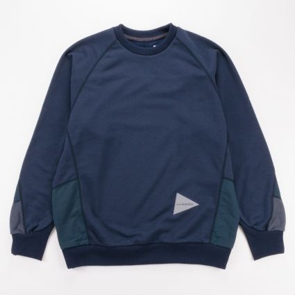 and wander Polyester Pile Pullover Navy1