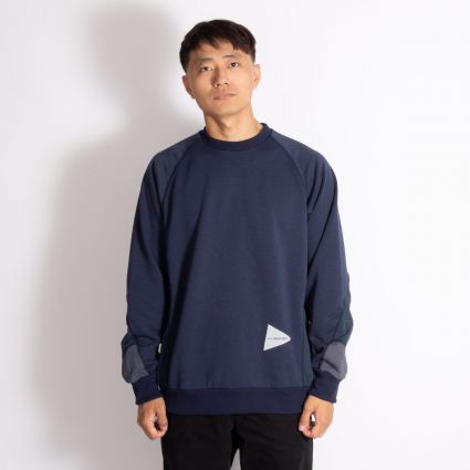 and wander Polyester Pile Pullover Navy