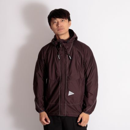 and wander Raschel Ripstop Jacket Brown