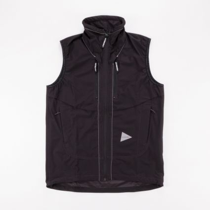 and wander Raschel Ripstop Vest Black1