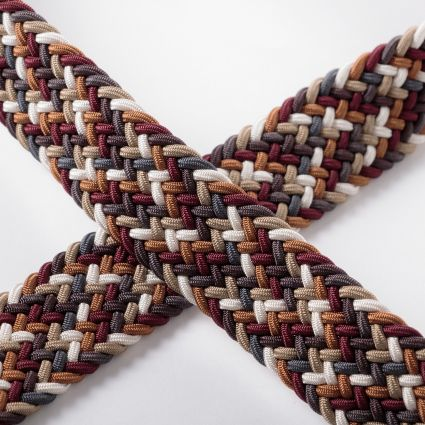 Anderson's Woven Belt Brown/Burgundy/Multicolour